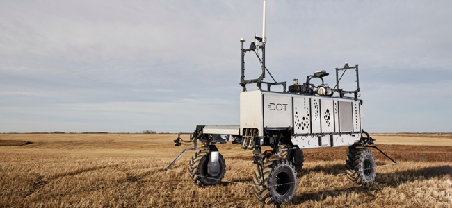 The Dot Power Platform is a mobile diesel-powered platform designed to handle a large variety of agricultural implements. (Photo: Raven Industries)