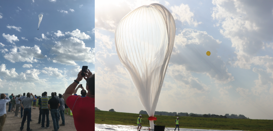 Raven Interns Enjoy a Thunderhead Balloon Launch - Raven
