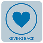 Giving Back Button